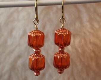 Hypoallergenic Earrings - La Lanterne - Yellow Anodized (Golden Color) Niobium Earrings for Sensitive Ears