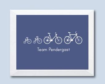 Bicycle Print, Bicycle Wall Art, Bike Wall Art, Bicycle Wall Decor, Playroom Art, Family Print, Home Decor, Wall Decor, Nursery Decor