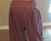 4yd Purple cotton Pantaloon Harem Pant bellydance belly dance ATS tribal fusion