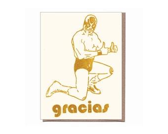 Gracias Luchador Card