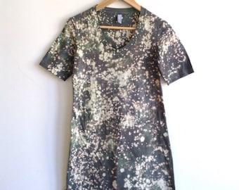 Speckled Gray T-shirt Dress