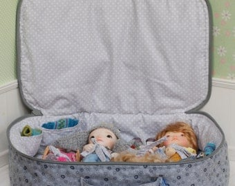 Travel Bag Sleeping Protective For Four Dolls Case Irrealdoll Lati Yellow Nikki Britt Pukifee For Dolls Handmade 1/6 Bjd Gray Flowers