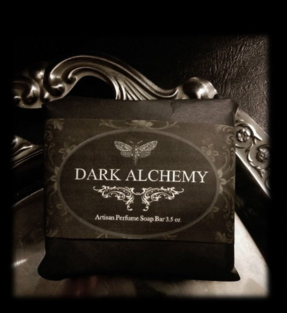 Dark Alchemy Soap 3.5oz  Hand Milled Natural Artisan Herbal  Rose de Mai,Clove,Dragon's Blood,Elderberry,Strawberry,Sage,Cinnamon,Sandalwood