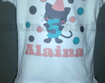 Kitten Birthday Shirt Or Bodysuit, kitty birthday shirt, cat birthday shirt, girls birthday shirt 6 mo 9 mo 18 mo 24 mo 2t 3t 4t 5 6 8 10 12