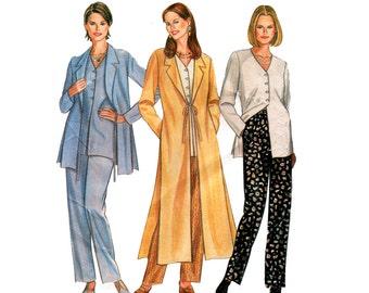 90s Easy Coat Jacket & Pants Pattern New Look 6409 Size 10 - 24 UNCUT Factory Folds