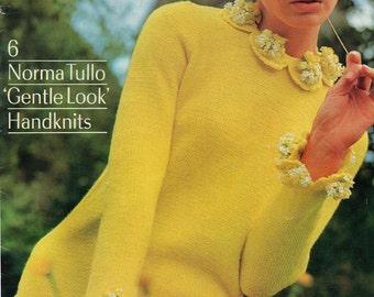 Patons 750 NORMA TULLO 1960s Vintage Knitting & crochet patterns booklet Original Patterns Not PDF