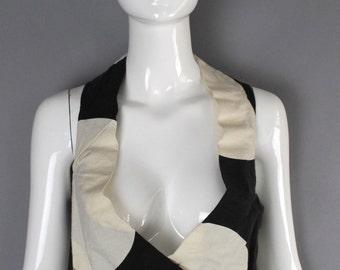 90s VIVIENNE WESTWOOD Anglomania striped geometric print cotton canvas bustier VEST top 42  8