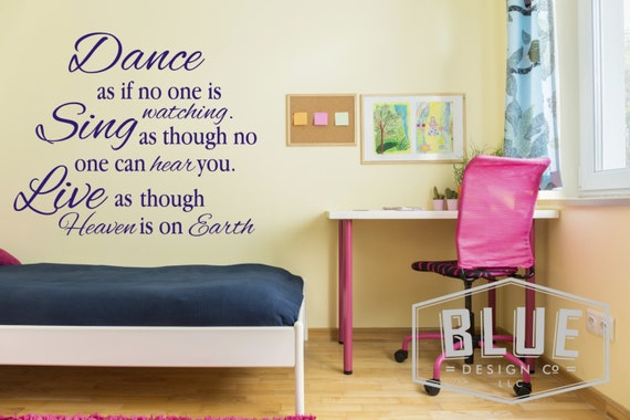 Dance Like No One's Watching Wall Quote by BlueDesignCo