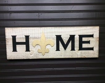 New Orleans Saints HOME plaque, sign