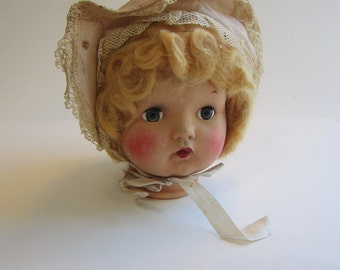 vintage doll head - eyes open and close