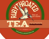 Sample tin: Rubythroated loose floral tea blend