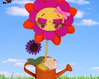 Felt anthropomorphic flower doll Perpetuflower