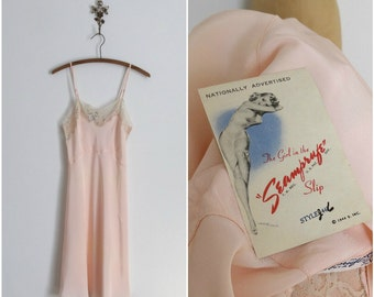 Vintage 1940s Slip - 40s Rayon Lingerie - The Rosemary