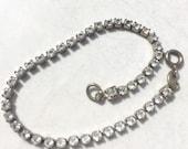 Vintage Rhinestone Bracelet Single Strand Rhinestone Bracelet Wedding Jewelry 50's Jewelry Vintage Accessories