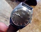 Mens watch Poljot, mens wrist watch from Russia Soviet Union, Vintage retro style,