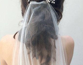 Wedding Veil in Silk Tulle