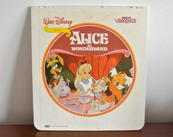 Vintage Alice in Wonderland Capacitance Electronic Disc - Vintage Disney Memorabilia - Vtg CED - Walt Disney Collectibles - Disneyland