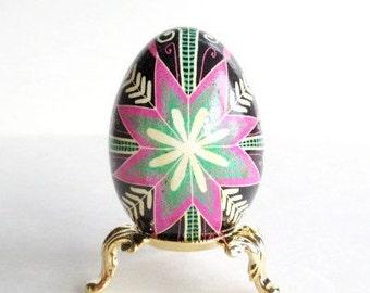 Pysanka, Ukrainian Easter egg, batik decorated chicken egg,  Pysanka