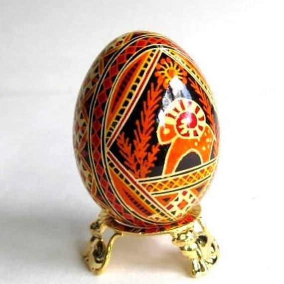 Pysanka with   Ram, Ukrainian Easter eggs