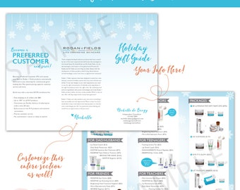 Rodan and Fields Holiday Gift Guide - Trifold Product Brochure