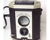 1940s Kodak Camera - Brownie Reflex Synchro, Twin-Lens Reflex Style, Rotary Shutter, 127 Film, Meniscus Lens