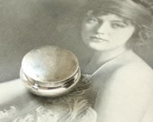 Antique Silver Powder Rouge Compact with Mirror