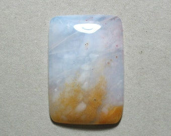 CHALCEDONY cabochon freeform rectangle 25X37mm designer cab