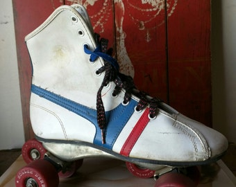 Vintage Roller Derby Roller Skates / Retro Skating Gear / Official Roller Derby Skate Fireball