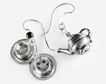 Tea for Two Sterling Silver Earrings