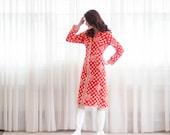 60s Floral Dress - Vintage 1960s Shirt Dress - Rudholm Graphic Floral Dress