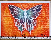 Butterfly painting, watercolour, butterfly, purple butterfly, fire butterfly, orange and purple butterfly painting.