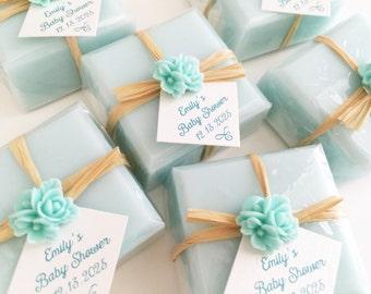 Favor Soaps, Soap Favors, Bridal Shower Soap Favors, Baby Shower Soap Favors, Wedding Soap Favors, Aqua Soap Favors, Mint Soap Favors