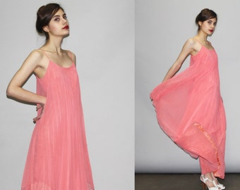 Salmon color maxi dress