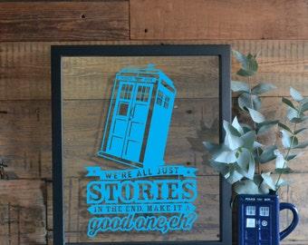 Doctor Who Inspired Art / Tardis Inspired Artwork / Dr Who Inspired Artwork / Doctor Who Frame