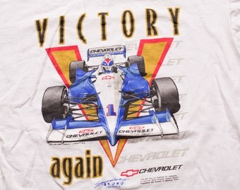 Chevrolet Formula One T-Shirt, Victory Again, F1 Race Car, Vintage 90s