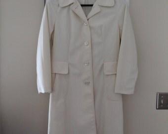 Vintage Woman's Dress Coat, Outer Banks by Jerold, Princess Cut Raincoat
