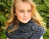 CROCHET PATTERN - Crochet Cowl Scarf - The Chelsea Cowl Scarf - Sizes Child and Adult
