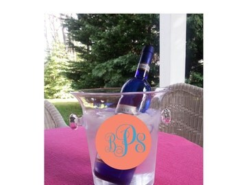 Monogrammed Champagne and Wine Bucket