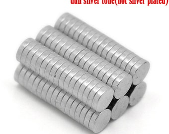 30pcs 6mm x 1.5mm Neodymium Magnet Disks - Round Silver Magnets - Wholesale Magnet Supply Small Circle Magnet -Tiny Strong Flat Blank B38