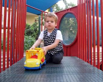 toddlers waistcoat, elephant, boys reversible vest, toddler vest, little boys vest, toddler gift, boys vest, unisex toddler vest, cute print