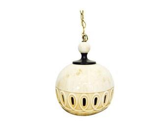 Art Deco Hanging Ceramic Lamp / Pendant Lamp