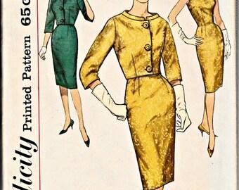 1960's Retro Sheath and Jacket Pattern  SIMPLICITY 4173  MAD MEN Fitted Sheath and Jacket  Pattern  Vintage Sewing Pattern  Bust 32