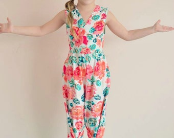 Girl Sewing Pattern - Jumpsuit - Capsule Wardrobe PDF Pattern
