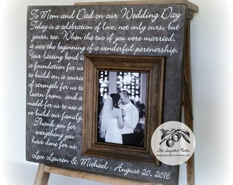 Gifts for Parents, Father of the Bride, Mother of the Bride, Mother of the Groom 16x16 The Sugared Plums