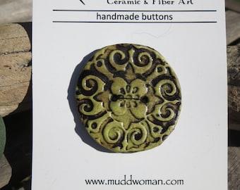 Large Handmade Ceramic Button