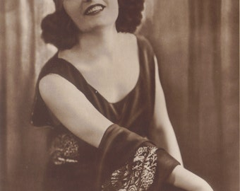 Pola Negri, Polish Silent Film Star in Trademark Bandeau, circa 1920s
