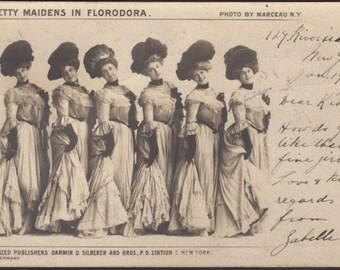 The Six Original Florodora Girls. Private Mailing Card, circa 1900