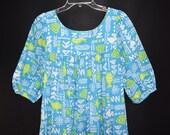 Vintage 80's Two Potato Muu Muu Caftan Gown Robe Dress Laguna California Medium