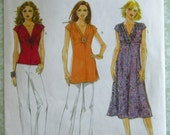 Very Easy to Sew Misses Top, Tunic and Dress Sizes 16 18 20 22 24 Butterick Pattern B5484 UNCUT