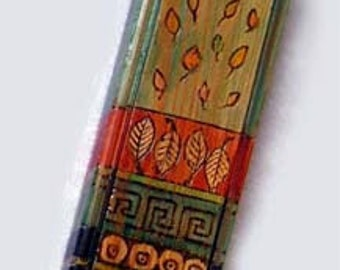 Mezuzah case / Wood Mezuza / Decorated Mezuza